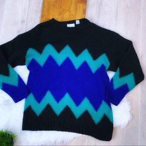 🔷 Vintage vibrant  Sweater